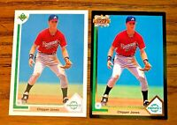 CHIPPER JONES Upper Deck 1991 #55 and 1993 #A11  - Braves