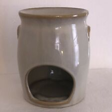 YANKEE Embossed Flower STONEWARE JUG Tealight CANDLE Tart Warmer/Melter