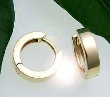 Pendientes de clip Mujer Oro 333 BRILLO anguloso 13mm Oro Amarillo Calidad