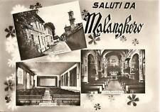 Saluti da MALANGHERO  -  Via Principale - Chiesa Parrocchiale - Salone Cinema