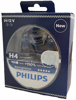 H4 PHILIPS Racing Vision +150% 12V 60/55W P43t  2st Box 12342RVS2