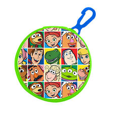 Round Character PVC Front Coin Wallet Purse with Clip - Disney Toy Story
