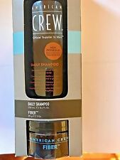 AMERICAN CREW DAILY SHAMPOO 8.4 OZ & FIBER PLIABLE MOLDING 3 OZ NEW IN BOX