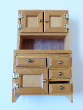 VTG Concord Miniatures Doll House Furniture China Hutch Cabinet Dining Kitchen