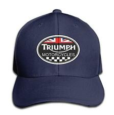 Unisex Adult Triumph Logo Black Solid Caps/Snapback Hats/Baseball Caps/Caps/Hats