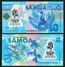 Samoa 10 Tala 2019 Commemorative Polymer UNC P New
