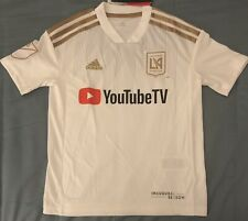 Adidas LAFC Youth White Soccer Jersey. Youth Size: S,M,L,XL
