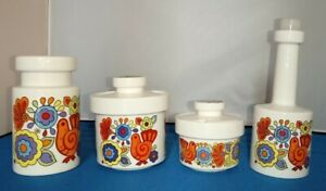 LORD NELSON GAYTIME POTTERY SUGAR, FLOUR SIFTER.& MORE VINTAGE, RETRO. 1960s.
