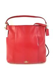 Coach Shoulder Bag Large Smooth Leather Isabelle 57130E (Classic Red)