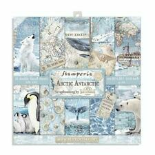 1 Set Scrapbooking Papier Stamperia 20,3x20,3 cm SBBS20 Arctic Antarctic