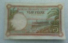 5 Francs Belgian Congo 1930 XF/UC