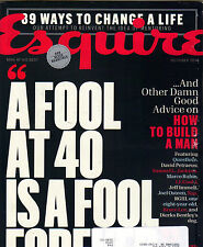 A FOOL AT 40 HOW TO BUILD A BETTER MAN Esquire Mag 10/14 MARCO RUBIO LL COOL J