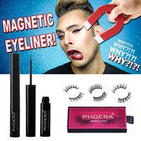 Phoera Magnetic Liquid Gel Eyeliner + 3D pestañas falsas magnéticas con pincel