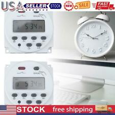Digital Lcd Display Power Timer Weekly 7days Programmable Time Relay Switch