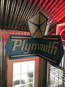 Large Lighted Plymouth dealership hanging sign Road runner GTX duster  Mopar