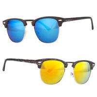 Retro Half Frame Vintage Sunglasses Classic Women Men Color Lens Sunglasses