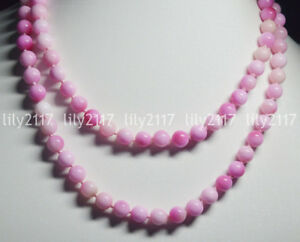 """Natural 8mm pink MultiColor Kunzite Round Gems Beads Jewelry Necklace 16-48"""" AAA"""