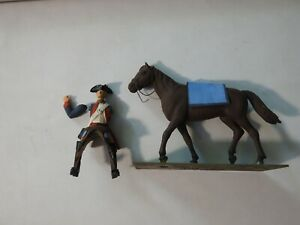 54mm Unknown Horse and Rider Metal Soldier - Missing an Arm
