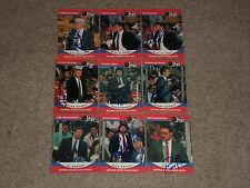 LOT OF (9) 1990-91 PRO SET HOCKEY NHL COACHES SIGNED AUTOGRAPHED CARDS