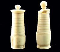 2 TOURS blanches D'ECHECSXVIIIème    / chess set c. 1780