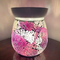 Purple Crackle Electric Wax Warmer/Burner & 10 Handpoured Scented Melts (3104)