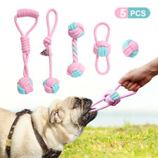 5pcs Pet Chew Toys for Large Dogs Aggressive Chewers Indestructible Cotton Rope
