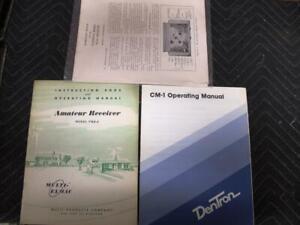 Multi-Elmac PMR-8, National NC-33, & Dentron CM-1 Receiver Manuals.