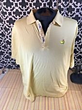 Masters Augusta National Bobby Jones Yellow Polo - Sz. XL