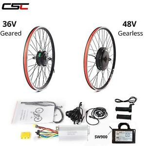 Ebike Conversion Kit 36V 48V 500W 1500W Motor Hub Wheel 20 24 28 29 inch 700C