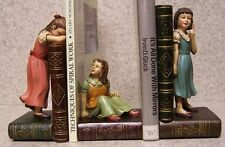 Bookends Memories of Youth Three Girls Best Friends 3 Piece Set Book Ends NEW