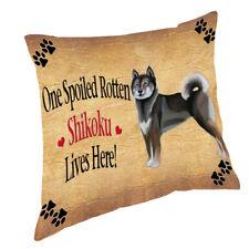 Shikoku Spoiled Rotten Dog Throw Pillow 14x14