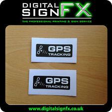 Warning GPS Tracking Laminated Stickers Van Motorbike Car Lorry x 2