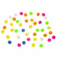 "Bike Bicycle Spoke Assorted Color 0.55"" Dia Plastic Beads Decoration 45 Pcs J8M5"