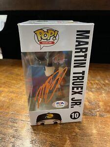 Martin Truex Jr Signed Funko POP Psa/Dna Coa NASCAR Autographed