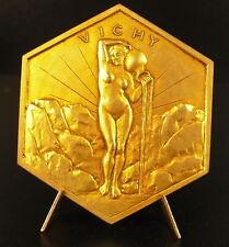 Médaille allégorie de la Source femme nue ville de Vichy naked nude woman medal