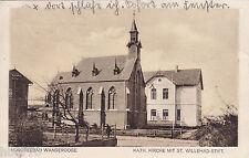 AK Nordseebad Wangerooge. Kath. Kirche mit St. Willehad Stift, gel. n. Juist.