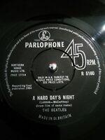 "The Beatles – A Hard Day's Night Vinyl 7"" Single UK Parlophone R 5160 1964"