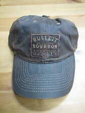 Bulleit Bourbon Frontier Whiskey Waxed Adjustable Hat! Rare! New! Distressed!