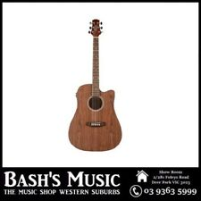 Ashton D20CEQ Dreadnought Acoustic Electric Steel String Guitar Walnut