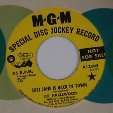 LEE HAZLEWOOD: Suzi Jane is Back in Town MGM Country Rock PROMO 45 NM-