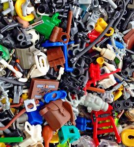 ☀️NEW 50X LEGO / Random GRAB BAG LOT Of 50 Accessories / Fifty / Weapons / Tools