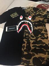 Bape camo Shark black and green Tshirt US size Large