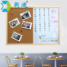 Combination Board Message Chork Wood Frame Drawing Bulletin Magnetic Whiteboard