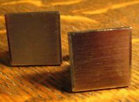 Silver Square Vintage Cufflinks - Vintage Brushed Silver Large Retro Cuff Links