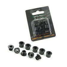KCNC AL7075 M8.5 x 0.75 Road Bike Bicycle Double Chainring Bolts Screws - Black