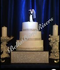 Bling 30cm Silver Wedding Cake Stand Riser & BONUS 15cm Riser, BellaBlingRisers