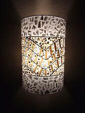 Unusual Banana Leaf & White Shell Wall Lamp Shades -Set of 2 Bali Lamp Shades