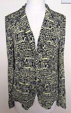 DIANE VON FURSTENBERG BNWT Victor Print Lily 100% Silk Blazer Jacket US4 AU8