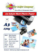 A3 Inkjet Matt Coated Photo Paper 130gsm 60 sheets