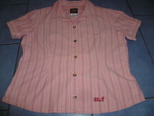 wunderschöne Damen Bluse Outdoor Trekking rosa gestreift Gr. L JACK WOLFSKIN